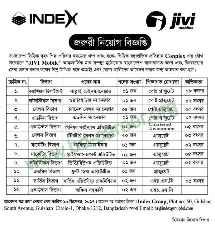 Index Group job circular